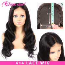 Closure Wig Lace-Wig Hair Body-Wave Jazz Non-Remy Brazilian Pre-Plucked 4x4 with Baby