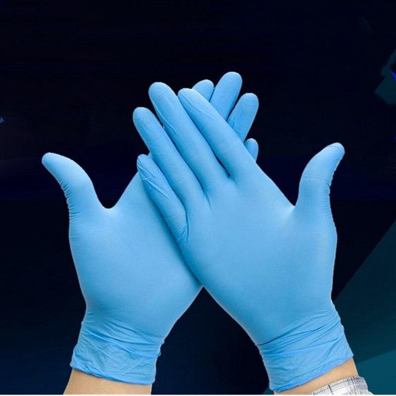 L, Azul Azul Negro Blanco Guante de Nitrilo sin Polvo para Hogar Alimentos Cocina Limpieza Jard/ín Guantes Desechables de Nitrilo 100 Piezas Tama/ño S M L