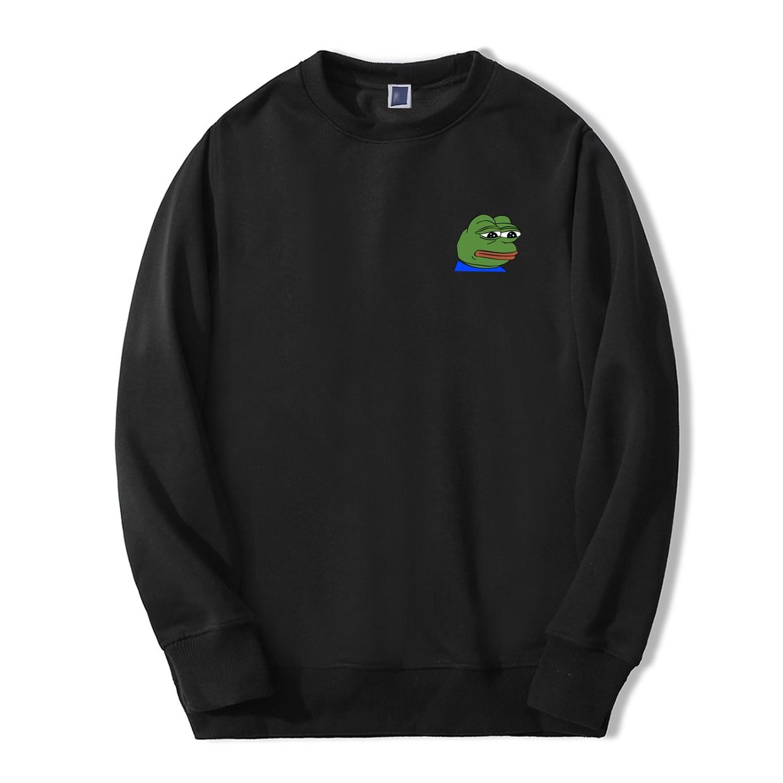 Feels Bad Man Men Sweatshirts Hoodie Sad Frog Angry Pepe Anime Print Feels Good Man Comic Casual O-Neck New Arrival Streetwear