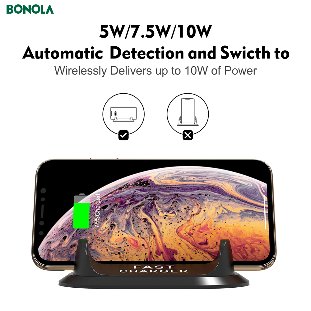 Bonola Fast Wireless Car Charger For iPhone11proXs Coil And PBC Motherboard Separate 10W Qi Car Phone Holder Wireless Charger  (6)