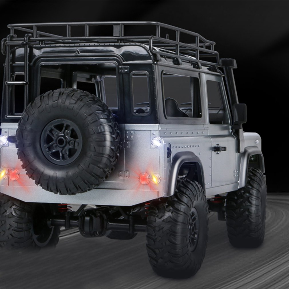 Wheel - 2.4G Four-wheel Drive Climbing Vehicle 4WD Rechargeable Battery Crawler 1/12 LED Lights Vehicle Off Road RC Car