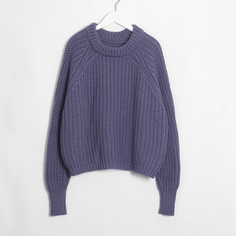 Wixra Knitted Chunky Oversized Sweater Women Loose Solid Thick O-Neck Pullover Jumpers Stylish Tops for Female Autumn Winter 12