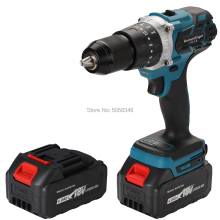 Impact-Drill Cordless Ah-Batteries 18v-Screwdriver 13mm with Two-4.0