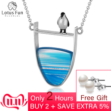 Fine-Jewelry Necklace Pendant Collier Penguin Agate-Gemstones 925-Sterling-Silver Lotus Fun