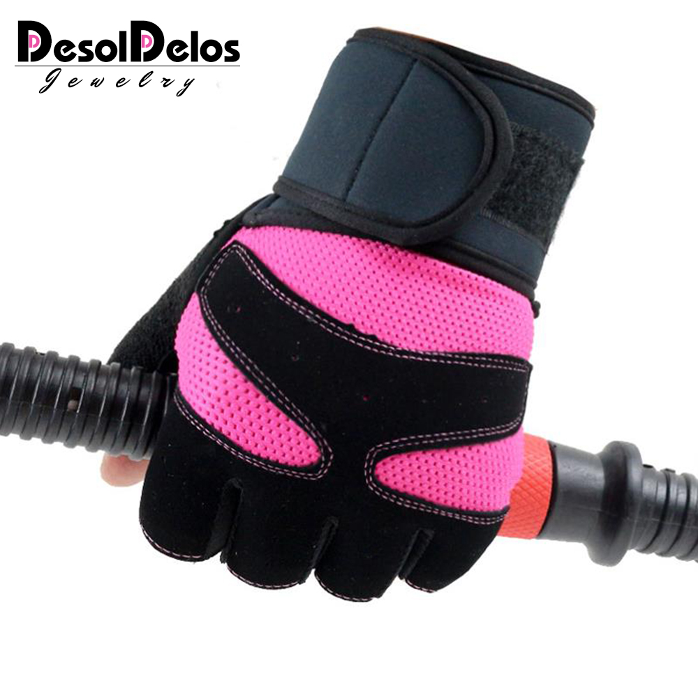 Fingerless-Gloves Mesh Mittens Fitness Female Breathable Sport Women 5-Colors Guantes title=
