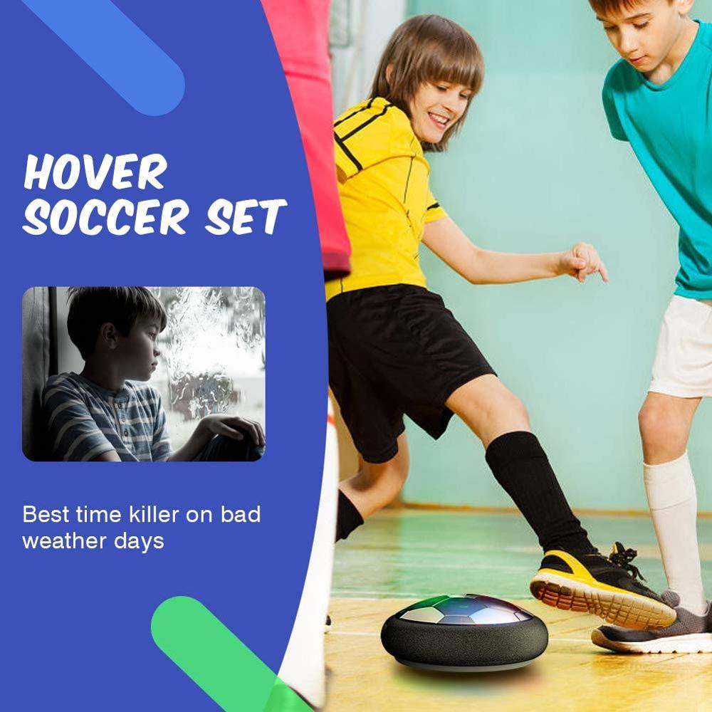 Air Power Hover Soccer Ball Indoor Football Toy Colorful Music Light Flashing Ball Toys kids sport games Kid's Educational Gift