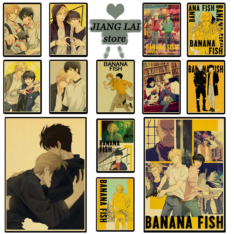 Anime series BANANA FISH poster cartoon retro poster Prints Wall Painting high Quality Decor Poster Home Decoration