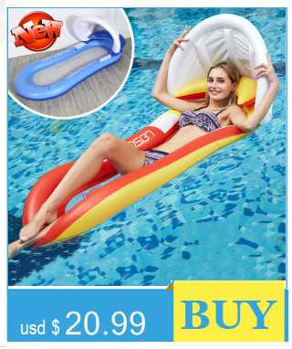 1* Adults Inflatable Floating Row Sleeping Bed Chair Lounge Beach Pool L2S4