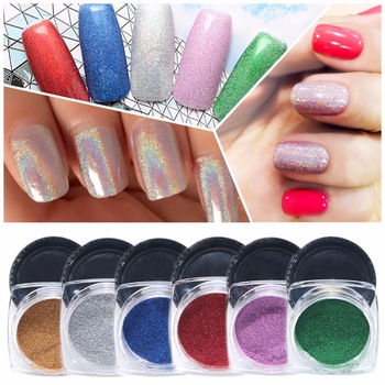 ZKO 1g/Bottle Nail Glitter Powder Nail Art Holo Glitters Powder Dust Shinny colorful mirror powder Nail Art Decorations
