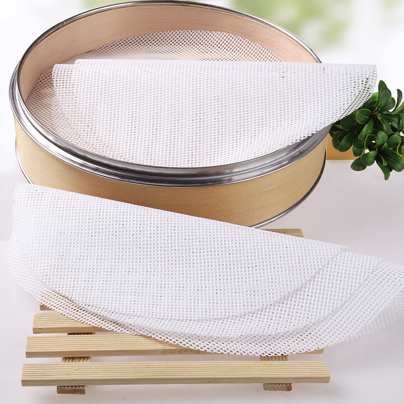 5 Pcs   Kitchen Non-Stick Silicone Steamer Mesh Round Pad Reusable Dumplings Mat