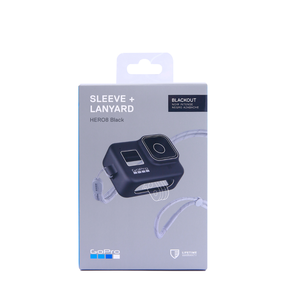 GoPro Silicone Sleeve and Adjustable Lanyard Kit for GoPro HERO 8 Black Action Camera title=