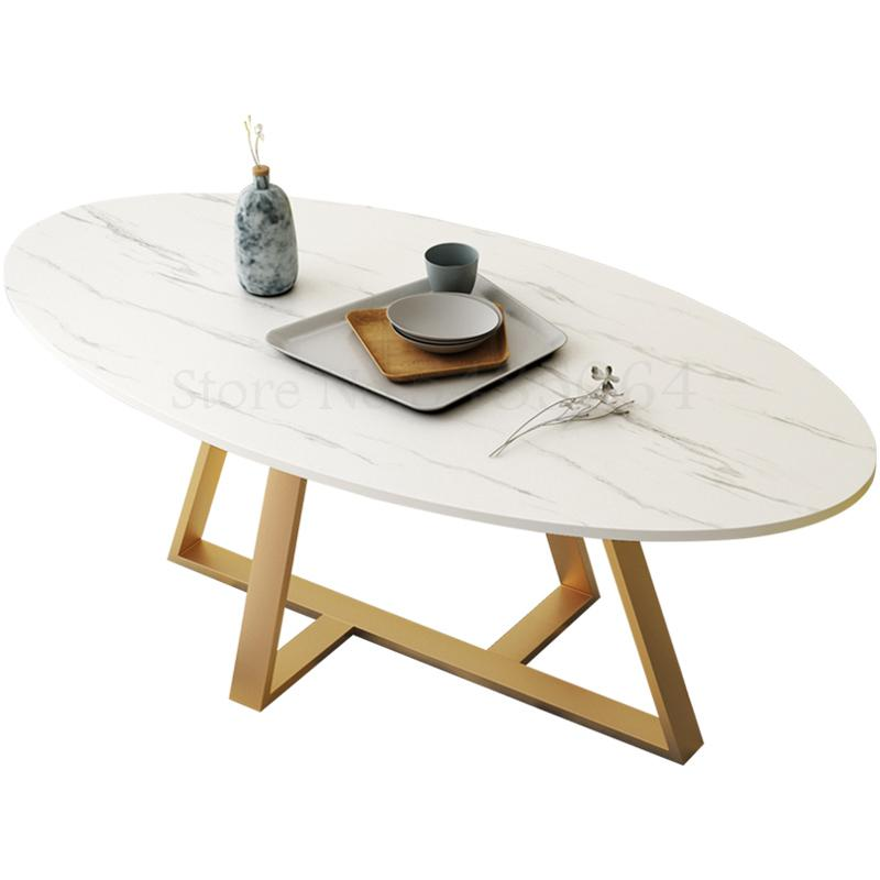 Nordic Coffee Table Simple Modern Creative Oval Ins Wind Small Apartment Small Coffee Table Iron Home Living Room Low Table