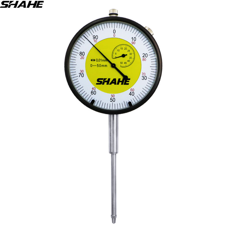 shahe  0-5/0-10/0-20/0-30/0-50 mm 0.01 mm High Quality dial indicator Metric Dial  indicator gauge 0.01mm