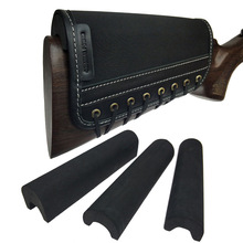 Gun-Accessories Shotgun Shoulder-Pad Rifle-Gun Cheek-Rest Shooting Buttstock-Leather