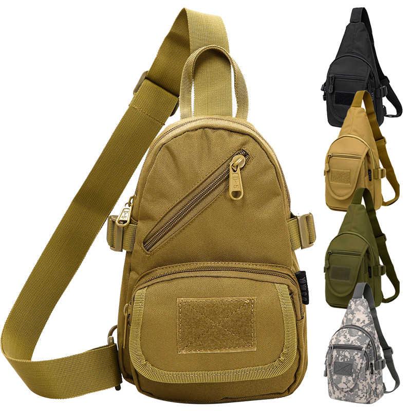 Men Nylon Messenger Shoulder Bag Tactical Military Travel Sling Chest Day Pack