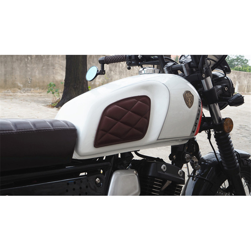 Braun MPW Motorrad Cafe Racer Style Anti-Rutsch-Tank Knie-Pads