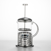 Pot Espresso-Maker FILTER-PRESS Coffee-Tea Stainless-Steel French Teapot Percolator Glass