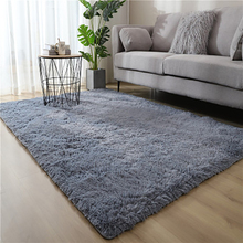 Rug Carpet-Bay Bedroom Living-Room Long-Hair Bedside-Mat Color Personality Window Gradient