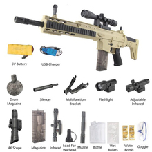 Toy-Gun Water-Bullet-Gun Christmas-Gift Plastic Electric Cs-Game Scar-Safety Outdoors