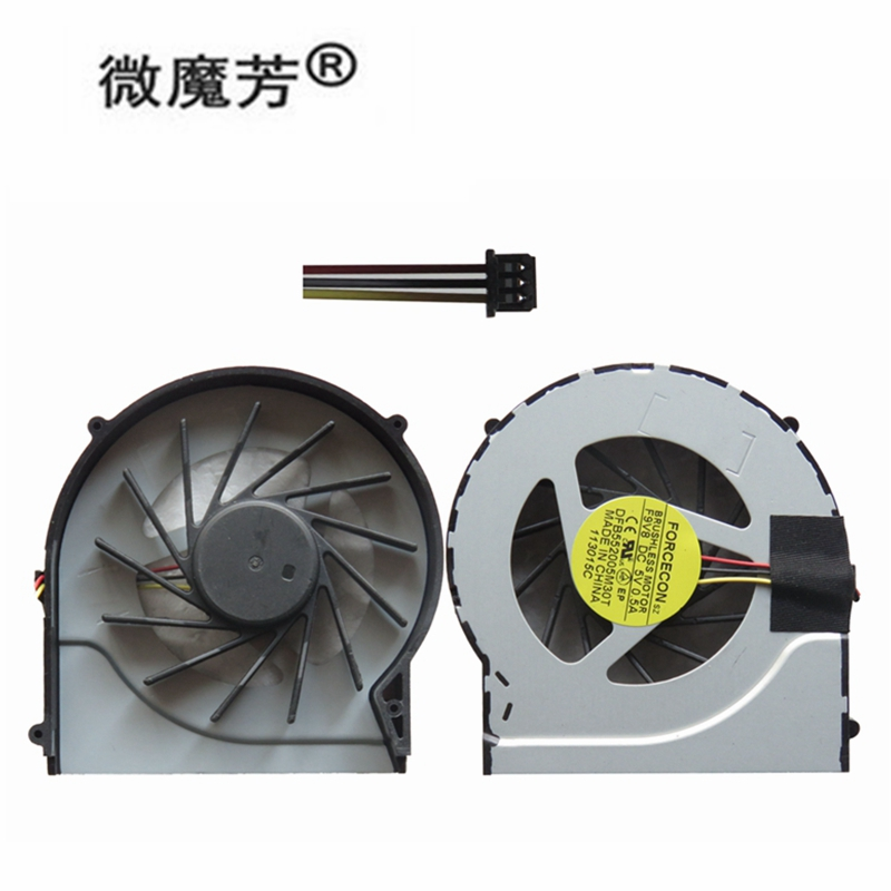 Laptop Replacement Cooling Fan CPU Compatible with Hp DV7-4000 DV6-4000 DV6-3000 Hasee A560P K580P K580S Original