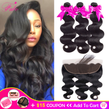 Fabc Hair Weave Bundles Frontal Body-Wave Brazilian 13x4 Non-Remy with 13x4/Lace-frontal/Middle-ratio/Non-remy