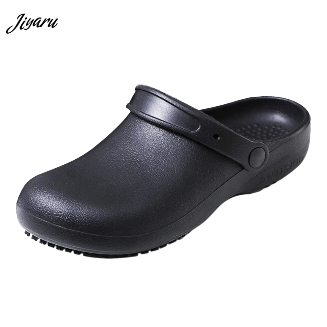 Jiyaru Men Women Work Clog Slip Resistant Nurse Chef Shoes