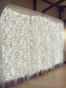 Icicle-String Lights Christmas-Fairy-Lights Garland Outdoor Curtain/garden-Decoration