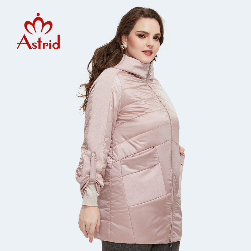 Astrid 2020 Spring new arrival women jacket loose clothing outerwear high quality plus size mid-length fashion coat AM-8612
