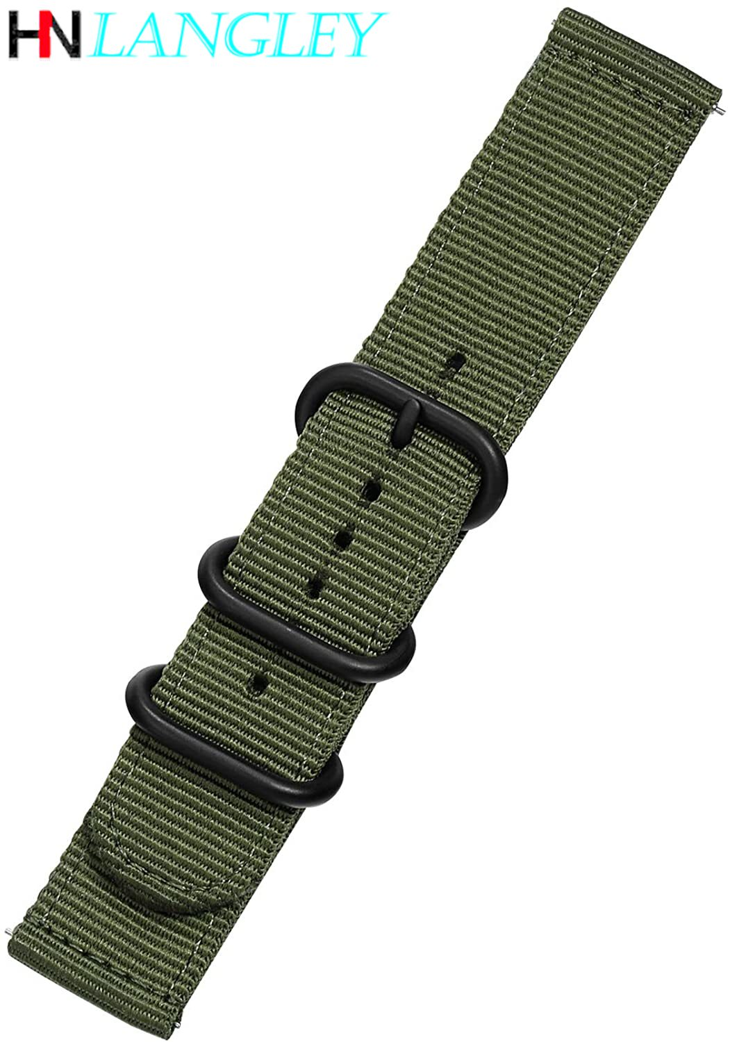 Quick Release Watch Strap for Men Women Premium Nylon NATO Watch Band with Black Stainless Buckle -18mm, 20mm,22mm,24mm