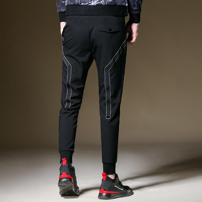 Casual Pencil Jogger Casual Pants Sexy High Wasit Autumn Fashion Pocket Men/'s Slim Fit Straight Leg Trousers Pantalon Costume