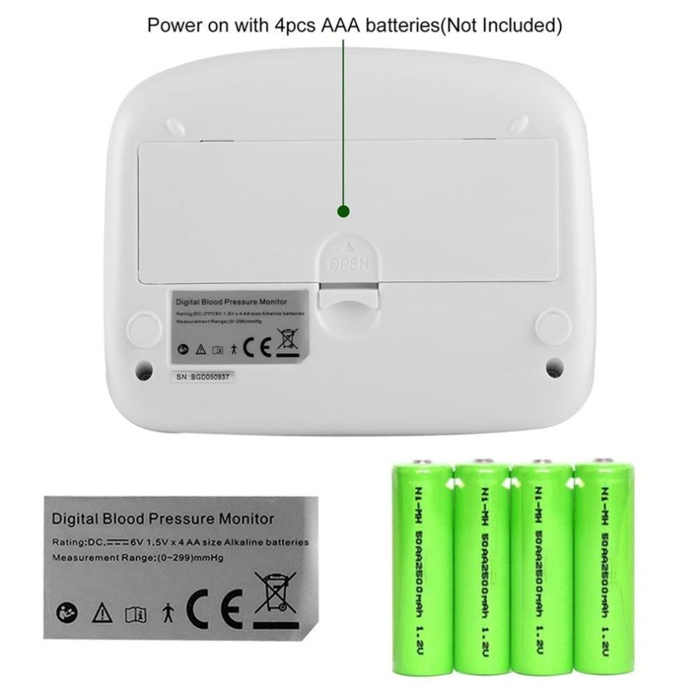 1pcs Digital Lcd Arm Heart Beat Meter Tonometer for Home