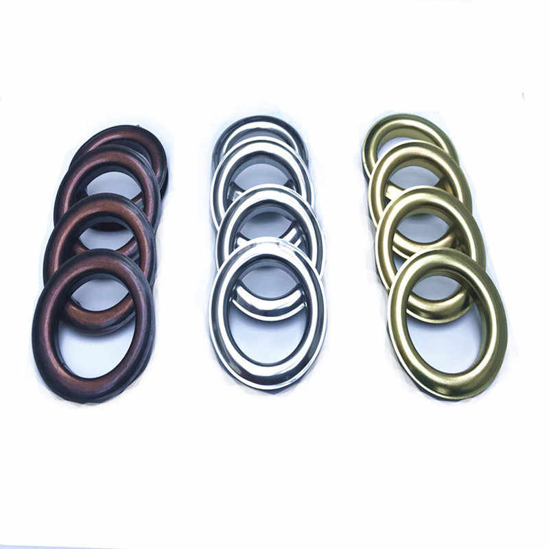 Factory Direct Sales Gold/Silver/Bronze Metal Rings for Curtain Grommet Hanging Curtain Metal Eyelets Accessories CP001D3