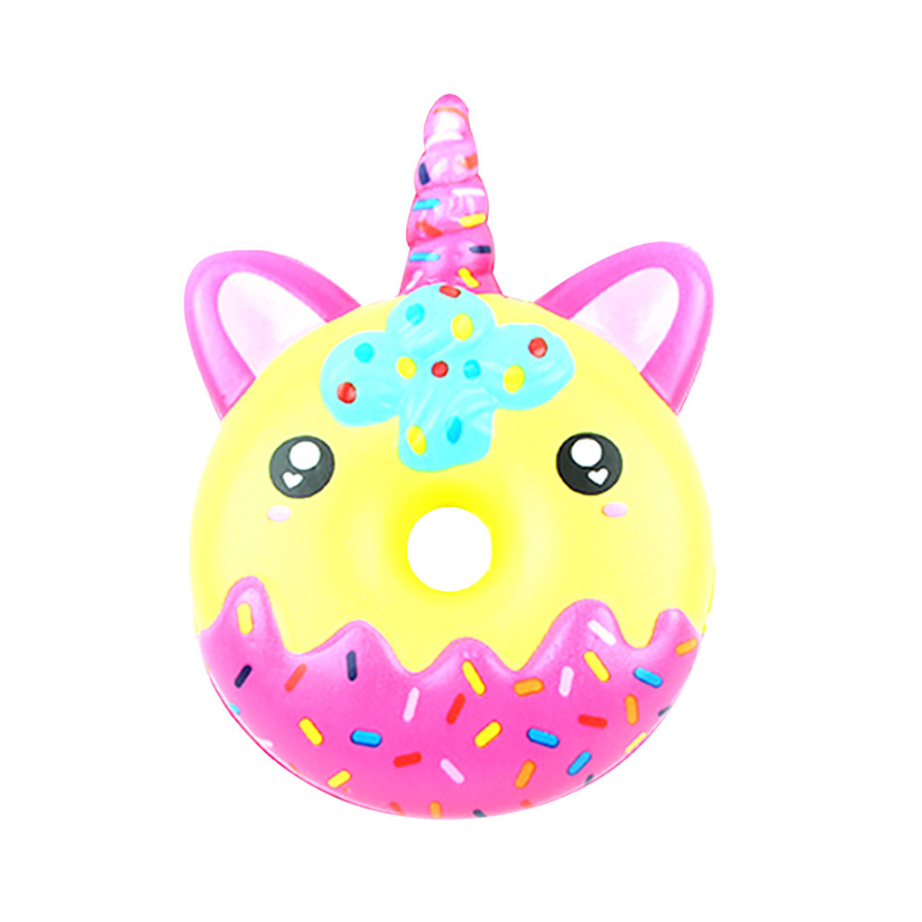 Fun Doughnut Squeeze Slow Rising Cream Scented Cute toys for children decompression Slow rebound toy #A