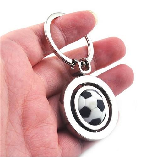 1Pcs 3D Sports Rotating Basketball Football Soccer Keychain For Men Keyring Ring Key Fob Ball Gifts Wholesale