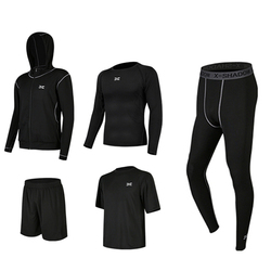 5 шт./компл. мужской спортивный костюм для тренажерного зала, фитнеса, компрессионный спортивный костюм, одежда для бега, спортивная одежда для занятий спортом, тренировочные колготки