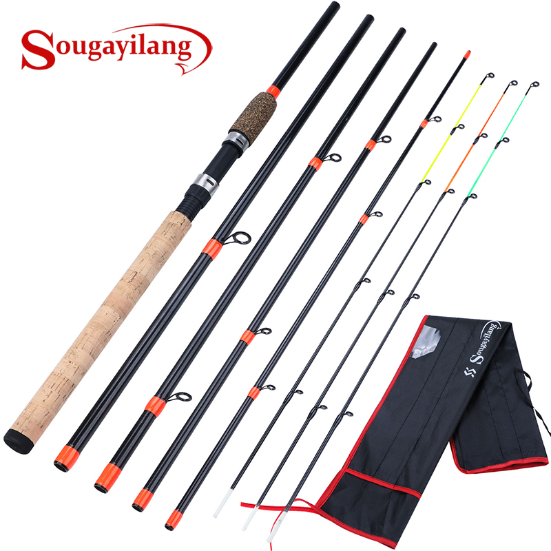 Sougayilang Feeder-Pole Fishing-Rod Cork-Handle Carp Spinning Travel High-Quality Rod-De-Pesca title=