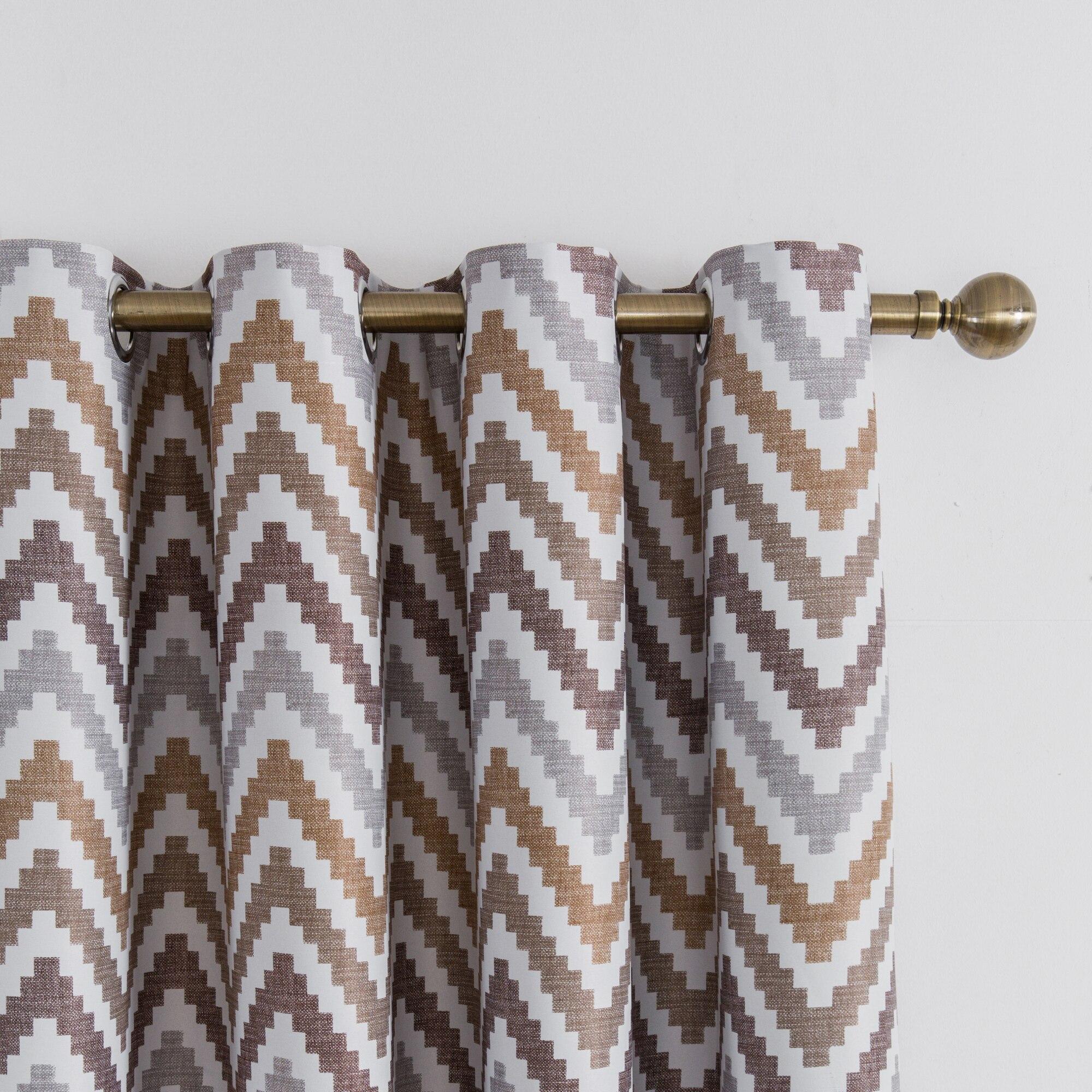 Modern Quatrefoil Pattern Blackout Curtains for Living Room the ...