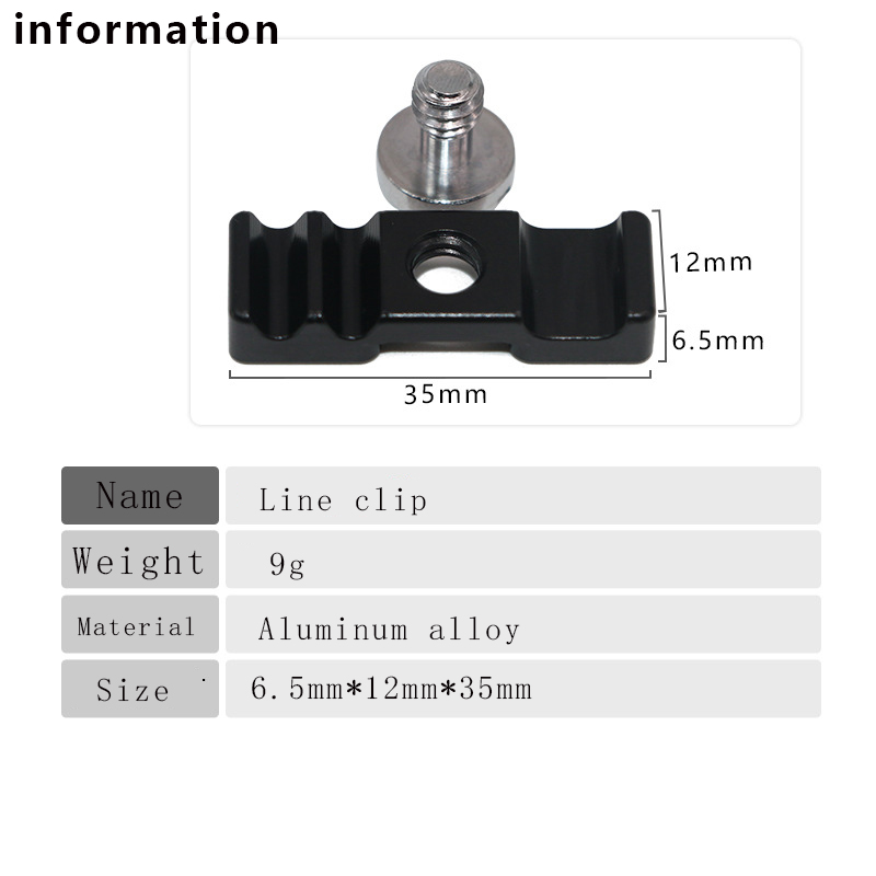 Aluminum Alloy Tether Holder Cable Lock Clip Clamp Mount for DSLR Camera RAL  lq