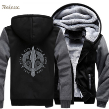 Vikings Hoodie Coat Jacket Hooded-Sweatshirt Berserker Odin Hip-Hop Fleece Warm Winter