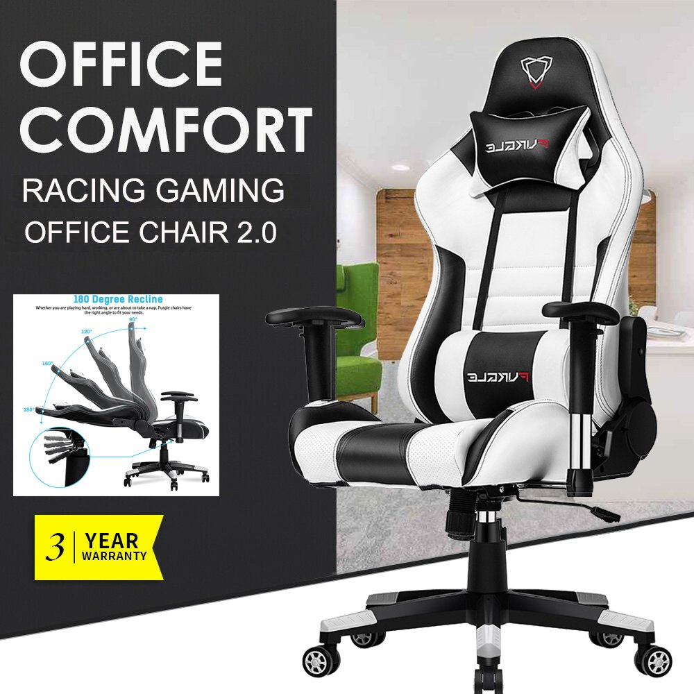 Furgle Pro Gaming Chair Safe&Durable Office Chair Ergonomic Leather Boss Chair for WCG title=