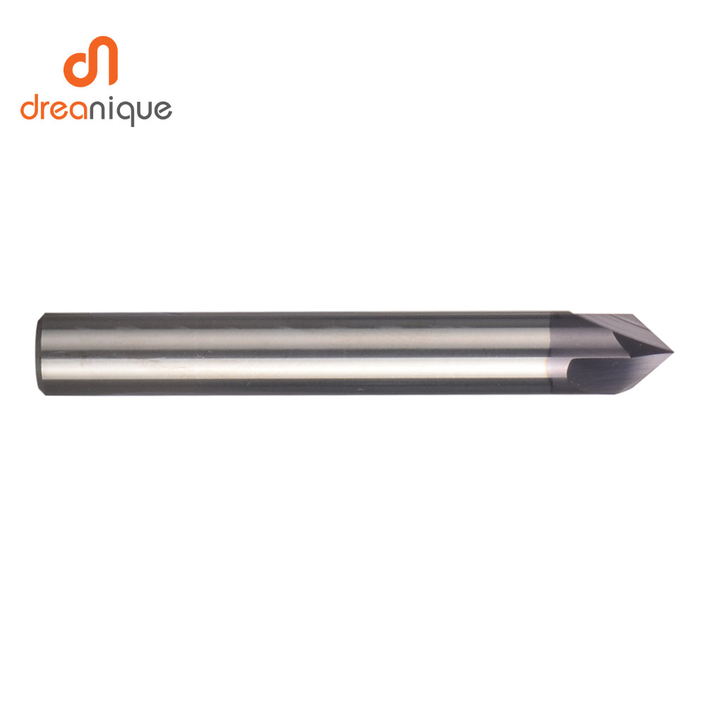 CNC carbide Chamfering milling cutter 60 90 120 degree coated 3 flutes deburring end mill engraving and carving router bit