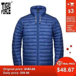 TIGER FORCE 2020 Новинка весна осень Мужская куртка высокого качества Модная парка со скрытым капюшоном Верхняя одежда Повседневная легкая 50610