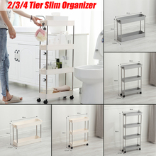 Storage-Rack Wheels Bathroom-Shelf Saving-Organizer Movable Kitchen Slide-Tower Space