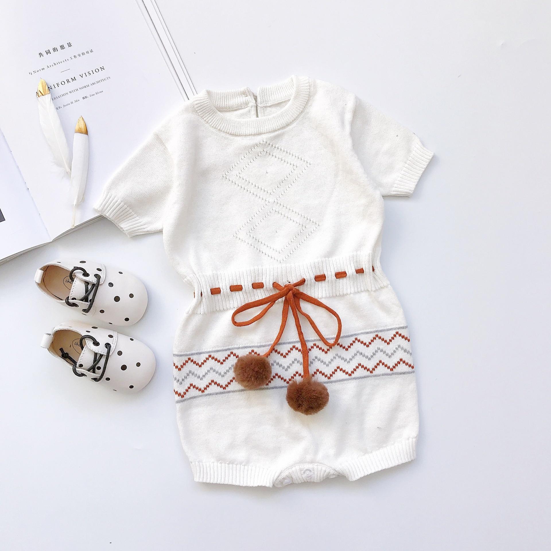 baby romper 2020 summer short sleeve print O-neck cotton kintting infant romper jumpsuits