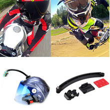 Gopro Accessories Mount Motorcycle Cycling Helmet Extension Arm + Buckle + 3M Sticker For Gopro Hero 1 2 3 SJ4000 SJ6000 Camera(China)