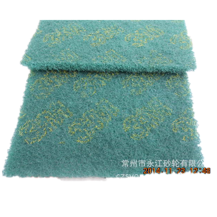 Scouring Pad 8698 Industrial Cleaning Scouring Cloth 150X230 Hand Cleaning Cloths 6X9 Green Nylon Piece la si bu thumbnail