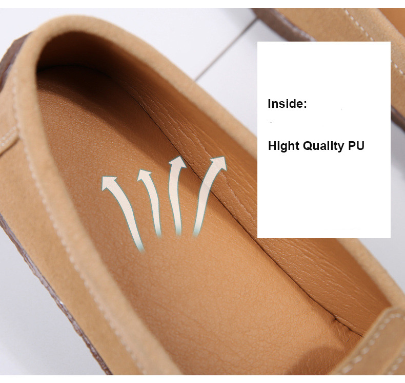 HX 7038-Spring Autumn Cow Suede Leather Women Flats-4