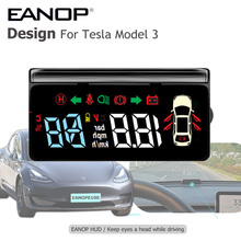 Speedometer Battery-Display Tesla-Model Mirror Hud Speed-Projector for 3/easy-Install
