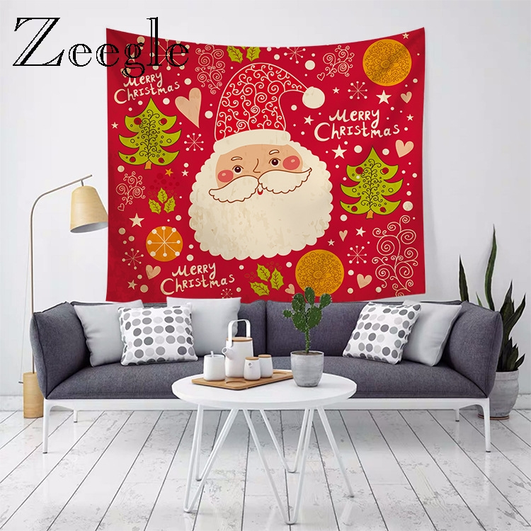 Zeegle  New Year Blanket Home Wall Hanging Tapestry Christmas Tapestry Picnic Mat Bedside Yoga Mat Bedroom Account Beach Towel