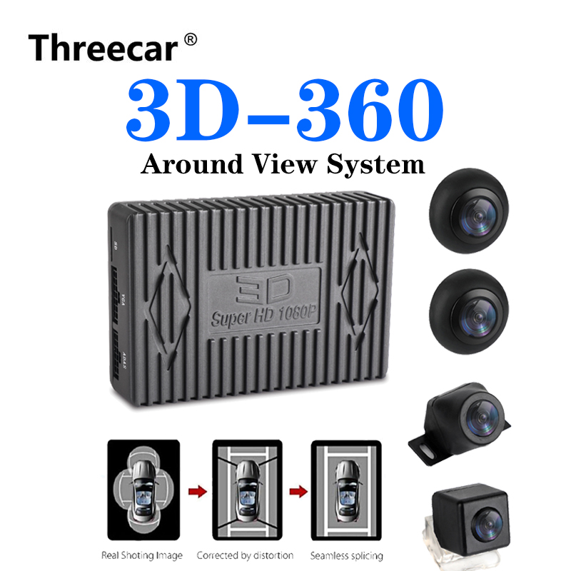 Car DVR Camera Driving Panorama-System Bird-View G-Sensor-Night-Vision 360-Surround 1080P title=